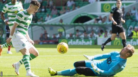 Celtic winger Michael Johnston scores in a friendly against Standard Liege