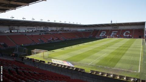 Blackpool's Bloomfield Road home