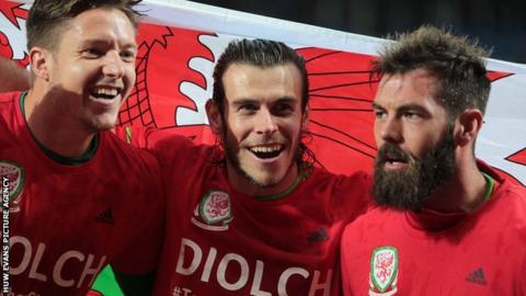 Wayne Hennessey, Gareth Bale and Joe Ledley