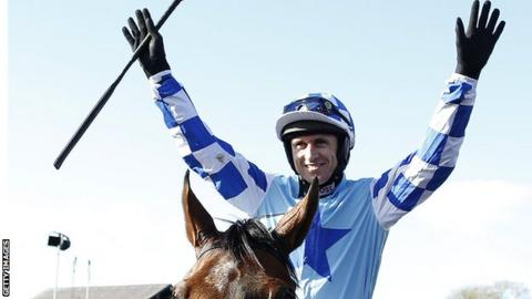 Paddy Brennan after winning on God's Own at Punchestown