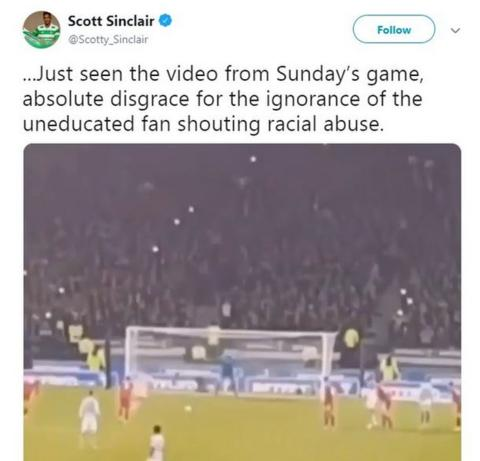 Scott Sinclair Twitter post