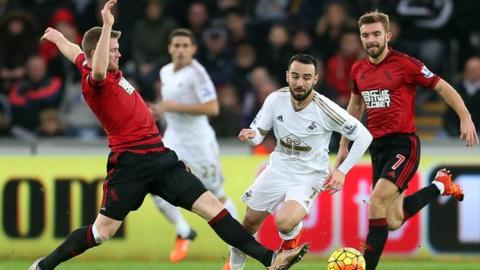 Leon Britton in action against West Brom