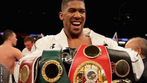 Anthony Joshua added more titles with victory over Joseph Parker