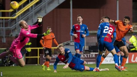Osman Sow scored his first goal for Dundee United to put them 2-0 up on the night