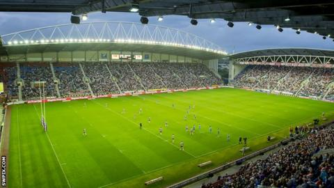 Wigan's DW Stadium last held an international game during England's Test series against New Zealand in 2015