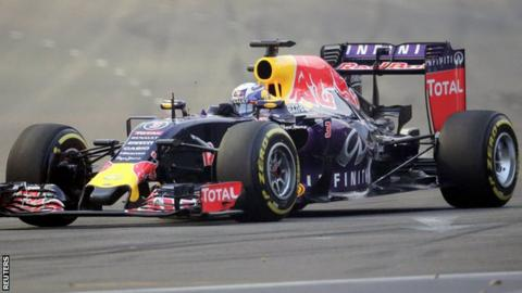 Red Bull driver Daniel Ricciardio