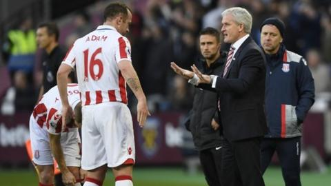 Charlie Adam was signed for Stoke City by Mark Hughes' predecessor Tony Pulis in August 2012
