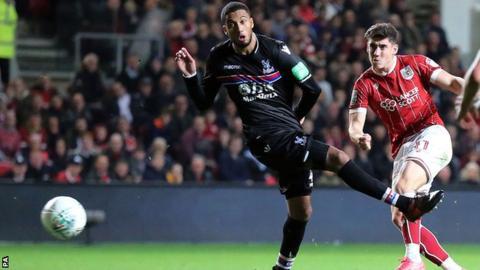 Callum O'Dowda scores Bristol City's fourth goal against Crystal Palace