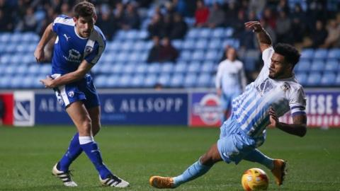 Jordan Willis produced an important first-half block to deny Chesterfield striker Ched Evans