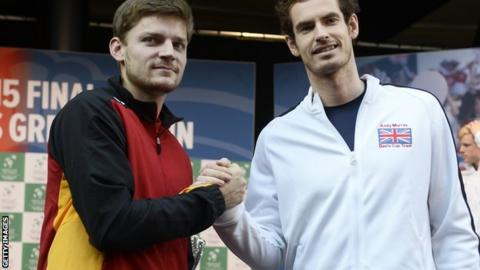 David Goffin and Andy Murray