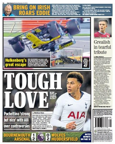 Monday's Daily Express