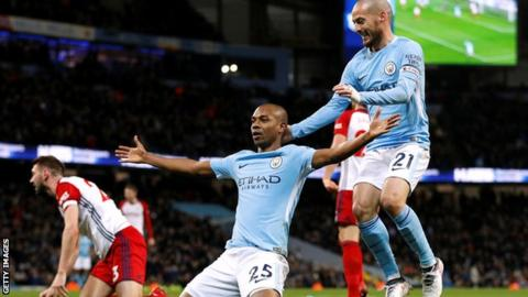 Manchester City goalscorer Fernandinho