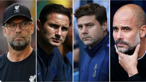 Jurgen Klopp, Frank Lampard, Mauricio Pochettino, Pepe Guardiola