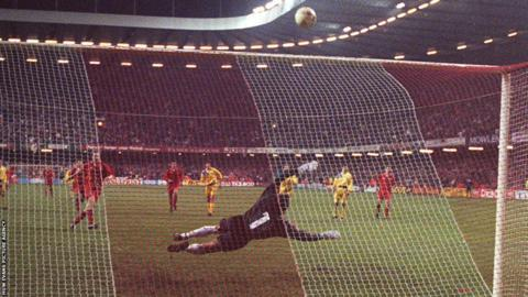 Paul Bodin's penalty miss against Romania in 1993 remains one of the most enduring images of Welsh football's near misses, with Terry Yorath's side failing to qualify for the 1994 World Cup finals.