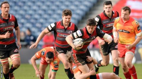 Edinburgh did not conceded any points in a tense second half at Murrayfield