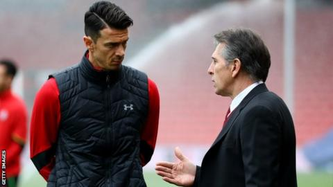 Jose Fonte and Claude Puel