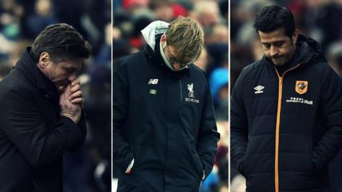 Mazzarri, Klopp and Marco Silva