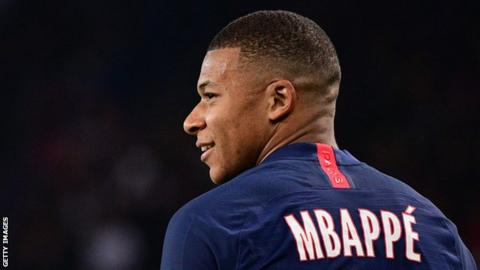Paris Saint-Germain striker Kylian Mbappe