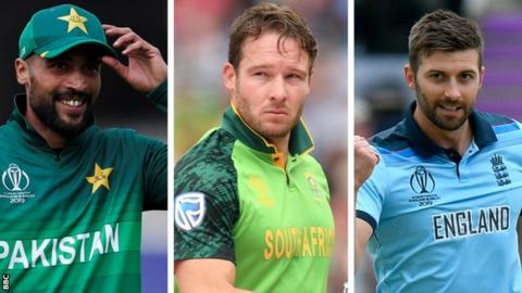 Mohammad Amir, David Miller and Mark Wood stock pictures