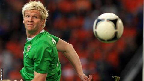 Ryan McGivern won the last of his 23 caps ior Northern Ireland in the 2-0 victory away to Romania in November 2014