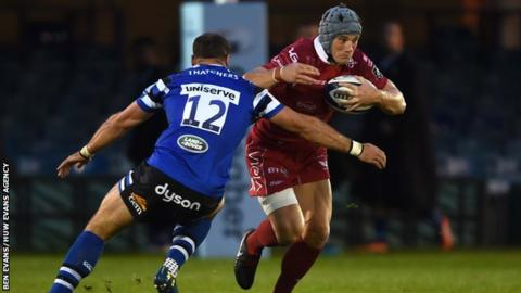 Wales and Lions centre Jonathan Davies played in Scarlets' pre-season loss at Bath