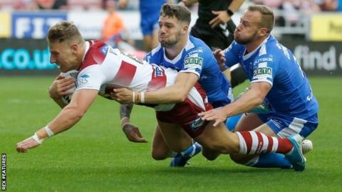 George Williams opened the scoring for Wigan at the DW Stadium