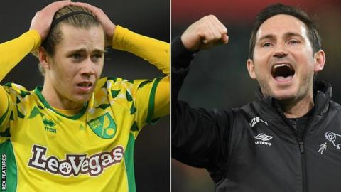 Norwich City and Derby County