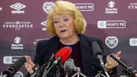 Hearts owner Ann Budge is continuing to speak to clubs about her reconstruction plans