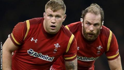 Ross Moriarty and Alun Wyn Jones on alert for Wales