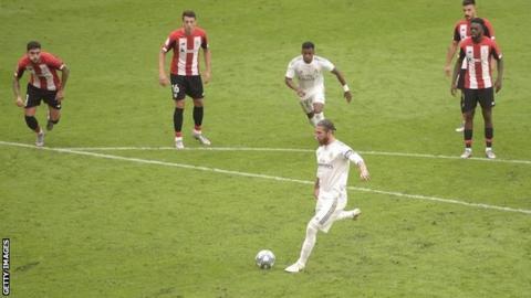 Sergio Ramos scores penalty