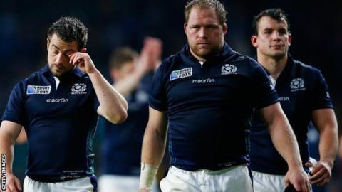 Scotland players after the match
