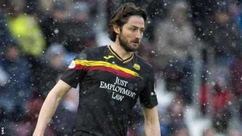 Adam Barton on the ball for Partick Thistle