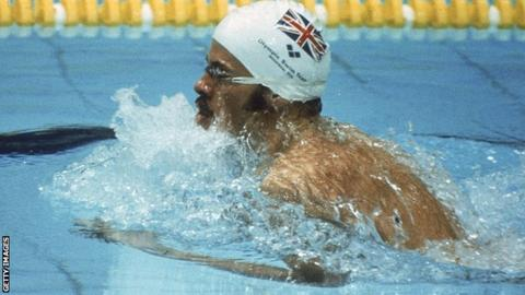David Wilkie on his way to winning Olympic gold in 1976