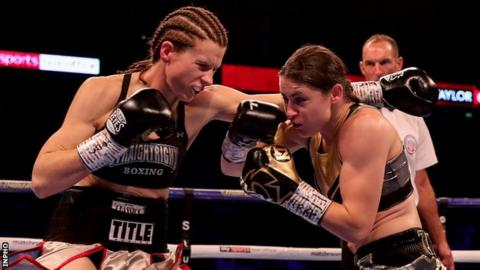 Katie Taylor (right) outclassed her US opponent in London