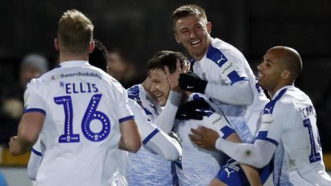 Tranmere players celebrate