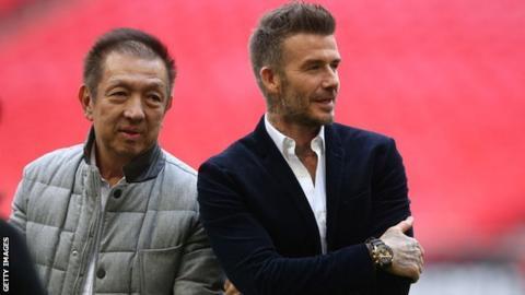 Peter Lim and David Beckham