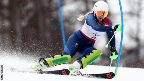 Kelly Gallagher won a gold medal at the 2014 Winter Paralympics in Sochi