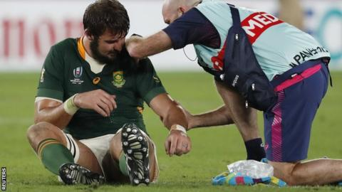 Lood de Jager injured in World Cup final