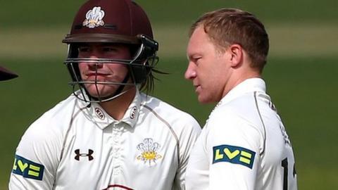 Rory Burns and Gareth Batty