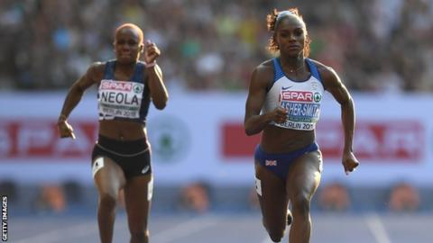 Asher-Smith leads charge as five British sprinters reach 100m finals