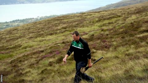 Former Tipperary hurling goalkeeper Brendan Cummins won the men's Poc Fada title in the Cooley mountains