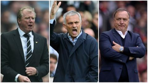 Steve McClaren, Jose Mourinho and Dick Advocaat