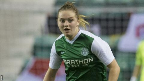 Hibs midfielder Lucy Graham
