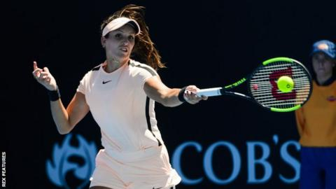 Australian open 2018 laura robson suggests renaming margaret court laura robson above and american coco vandeweghe were knocked out of the australian open womens doubles in the first round stopboris Images