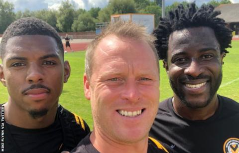 Tristan Abrahams, Mike Flynn and Wilfried Bony