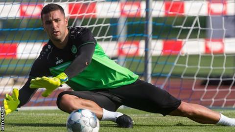 Dejan Stojanovic makes a save