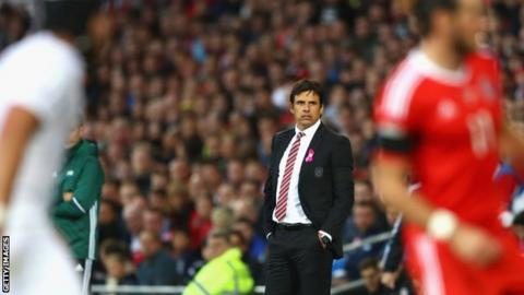 Chris Coleman looks on as Wales draw with Georgia in Cardiff