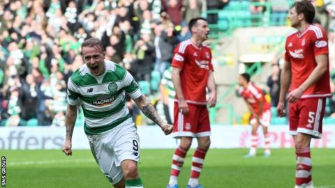 Leigh Griffiths scored twice for Celtic in a 3-1 win