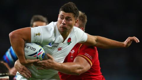 Ben Youngs playing for England against Wales in 2015