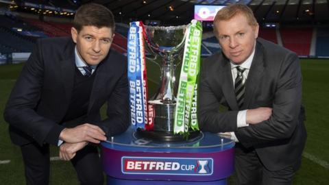 Rangers manager Steven Gerrard (left) and Celtic counterpart Neil Lennon